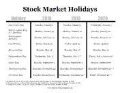 Stock Market Holidays