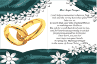Matrimony Holy Card (2 per page)