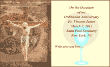 Ordination Anniversary Card (2 per page)