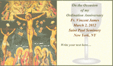 Ordination Anniversary Card 2 (2 per page)