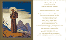 Prayer Of Saint Francis Funeral Card (2 per page)