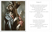 Psalm 23 Holy Card (2 per page)