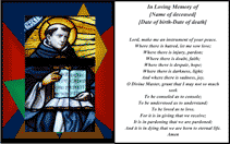 St Francis Funeral Card (2 per page)