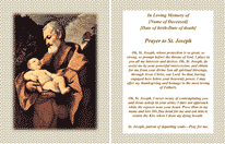St Joseph Funeral Card (2 per page)