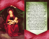 Virgin Mary Holy Card (2 per page)