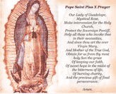 Virgin Of Guadalupe Holy Card (2 per page)