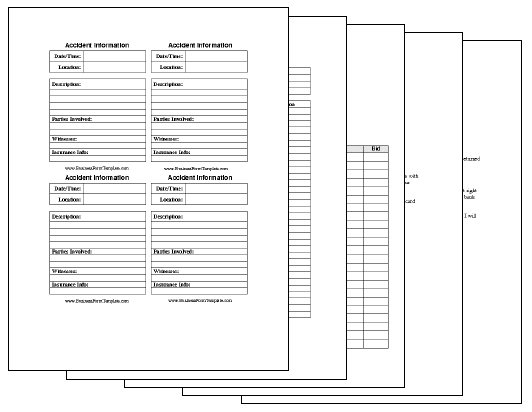 $47 Printable Business Form Templates Collection