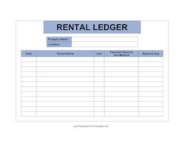 Apartment Manager Ledger Business Form Template
