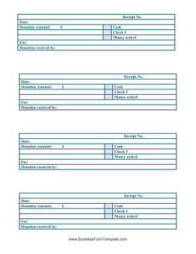 Cash Receipts Business Form Template