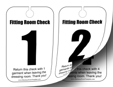 Dressing Room Numbers Business Form Template