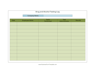 Drug and Alcohol Testing Company Template