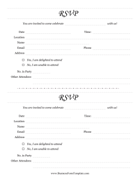 individual rsvp form fancy template