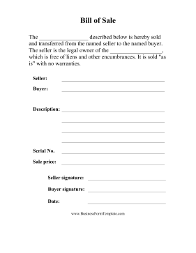 Selective image for bill of sale form printable