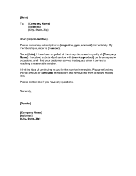 Cancellation letter with refund 28 images appointment for Refund cancellation policy template