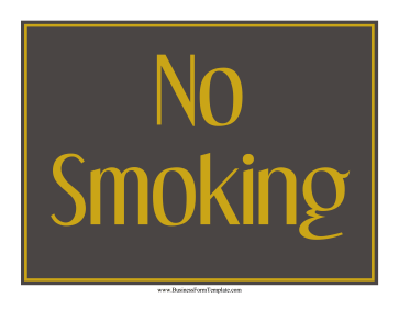 No Smoking Sign Business Form Template