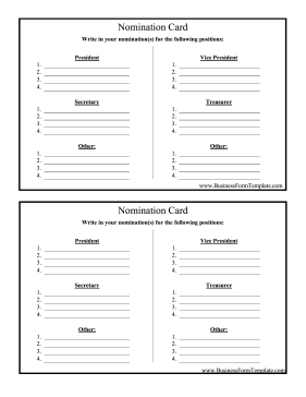 Generic award template