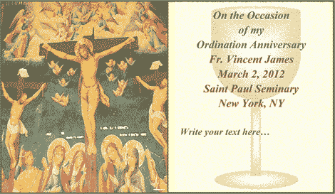 Ordination Anniversary Card 2 (2 per page) Business Form Template