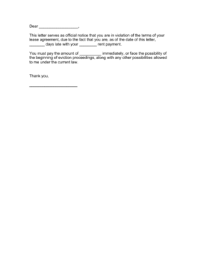 Rent Demand Letter Business Form Template