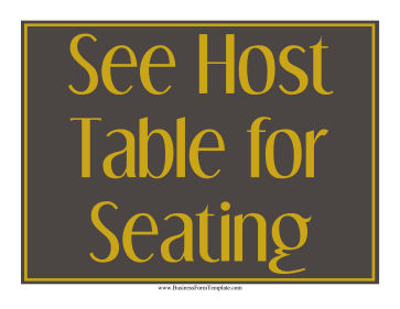 See Host Table Sign Business Form Template