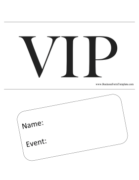 VIP Pass Business Form Template
