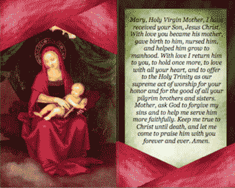 Virgin Mary Holy Card (2 per page) Business Form Template