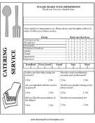 Feedback forms templates for Catering questionnaire template